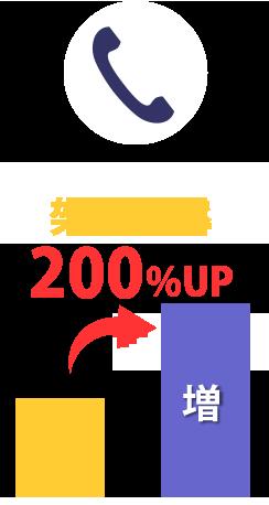 架電効率200%UP
