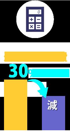 通信費・経費30%DOWN